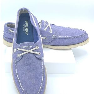 Fabric Sperry loafers